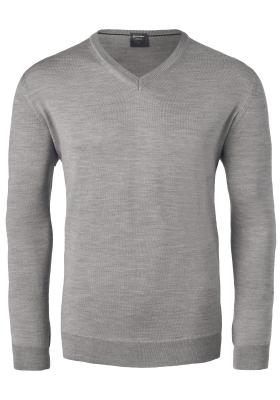OLYMP modern fit trui wol, V-hals, beige
