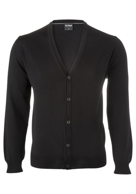 OLYMP modern fit vest wol, zwart