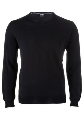 OLYMP heren trui wol, O-hals, zwart