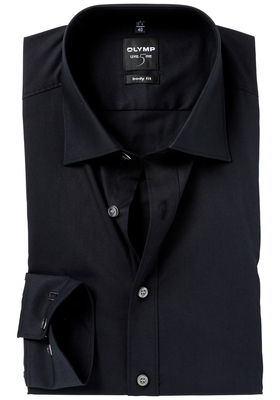 OLYMP Level 5 overhemd, zwart