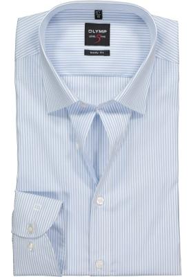 OLYMP Level 5 overhemd, blauw gestreept
