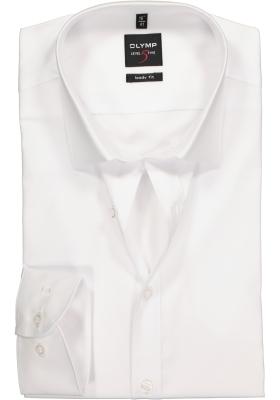 OLYMP Level 5 body fit overhemd, mouwlengte 7, wit