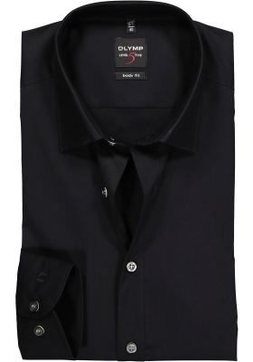 OLYMP Level 5 body fit overhemd, mouwlengte 7, zwart