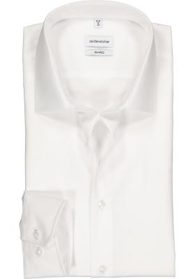 Seidensticker Shaped Fit overhemd mouwlengte 7, wit
