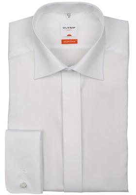 OLYMP Modern Fit Smoking overhemd, structuur  (kent kraag)