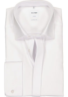 OLYMP Comfort Fit Smoking overhemd, gladde stof (kent kraag)
