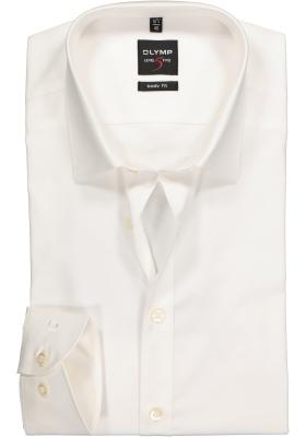 OLYMP Level 5 body fit overhemd, mouwlengte 7, beige