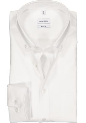 Seidensticker Regular Fit overhemd button-down, wit