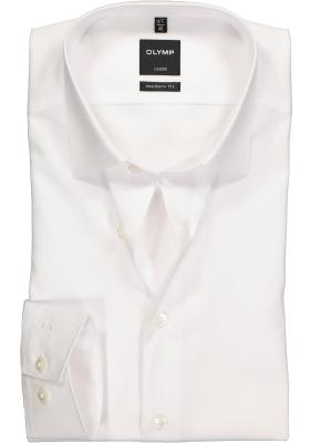 OLYMP Luxor modern fit overhemd, wit zonder borstzak