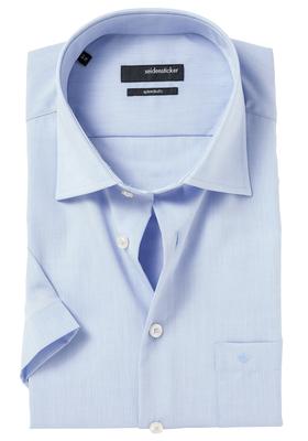 Seidensticker Modern Fit overhemd korte mouw, blauw
