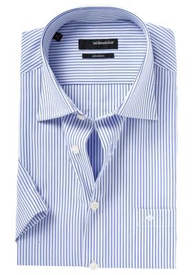 Seidensticker Modern Fit overhemd korte mouw, blauw streep