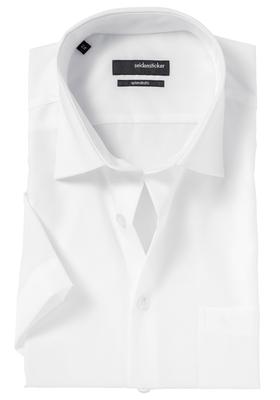 Seidensticker Modern Fit overhemd korte mouw, wit