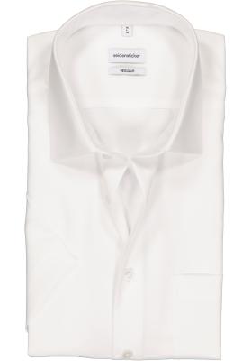 Seidensticker Regular Fit overhemd korte mouw, wit
