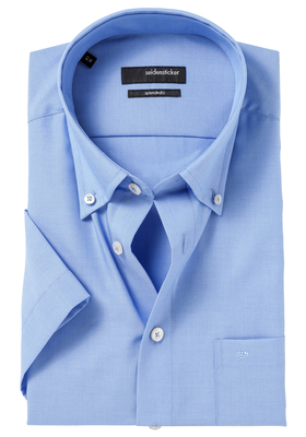 Seidensticker Modern Fit korte mouw, blauw (button down)