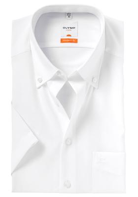 OLYMP Modern Fit, overhemd korte mouw, wit button down