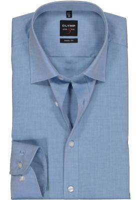 OLYMP Level 5 body fit overhemd, mouwlengte 7, blauw