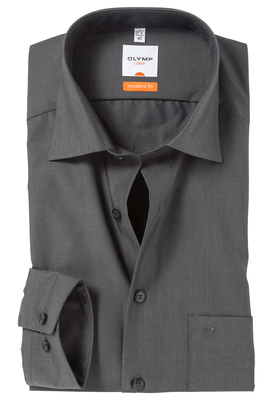 OLYMP Modern Fit overhemd, antraciet