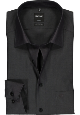 OLYMP Luxor modern fit overhemd, antraciet grijs