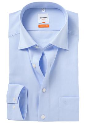 OLYMP Modern Fit overhemd, lichtblauw natté