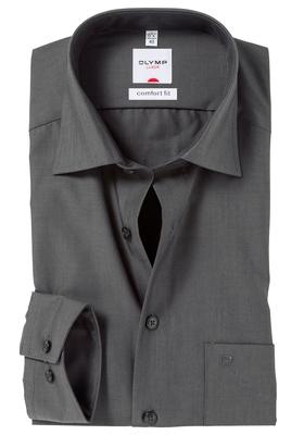 OLYMP Comfort Fit overhemd, antraciet