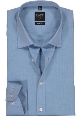 OLYMP Level 5 body fit overhemd, blauw