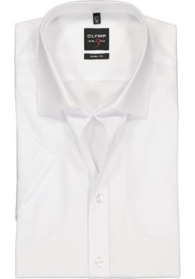 OLYMP Level 5 body fit overhemd, korte mouwen, wit