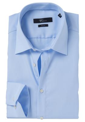 Venti Modern Fit overhemd, mouwlengte 7, blauw