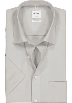 OLYMP Luxor comfort fit overhemd, korte mouw, grijs