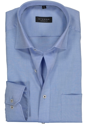 ETERNA Comfort Fit overhemd, blauw fijn Oxford