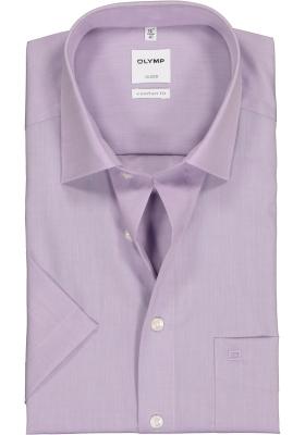 OLYMP Luxor comfort fit overhemd, korte mouw, lila