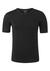 Schiesser 95/5, heren T-shirt O-hals, zwart