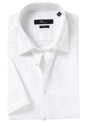 Venti Modern Fit overhemd korte mouw, wit