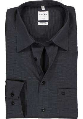 OLYMP Luxor comfort fit overhemd, antraciet grijs fil à fil