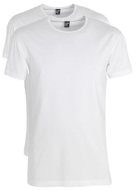 Alan Red stretch T-shirts Ottawa (2-pack), O-hals, wit