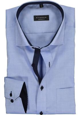 ETERNA comfort fit overhemd, fijn Oxford heren overhemd, lichtblauw (blauw gestipt contrast)
