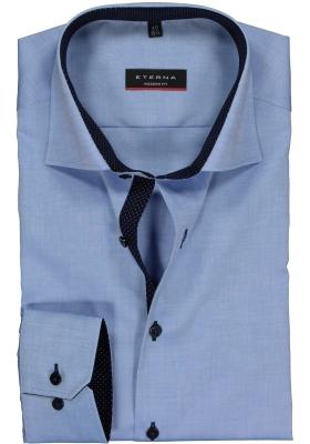 ETERNA Modern Fit overhemd, blauw fijn Oxford (special)