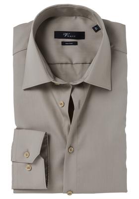 Venti Modern Fit overhemd, bruin