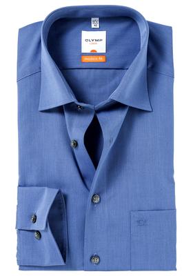OLYMP Modern Fit overhemd, nacht blauw