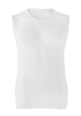 RJ Bodywear, mouwloos T-shirt O-hals, wit (stretch)