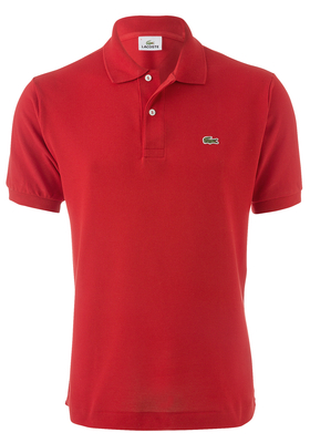 Lacoste Classic Fit polo, rood