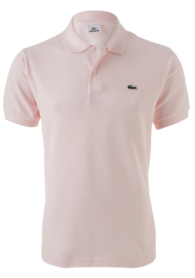 Lacoste Classic Fit polo, flamingo roze