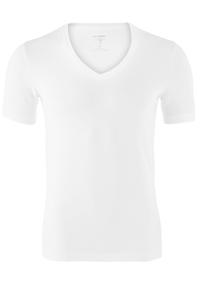 OLYMP Level 5 body fit T-shirt, V-hals, wit