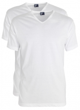 Alan Red T-shirts Vermont, extra lang (2-pack), V-hals, wit