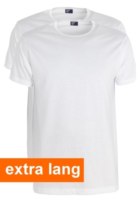 Alan Red T-shirts Derby, extra lang (2-pack), O-hals, wit