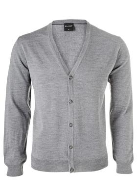 OLYMP heren vest wol, grijs