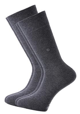 Actie 2-pack: Burlington sokken katoen (Everyday), antraciet