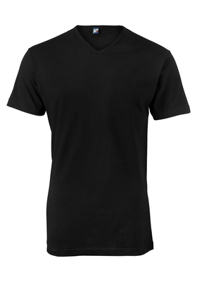 Alan Red T-shirt Vermont, V-hals, zwart