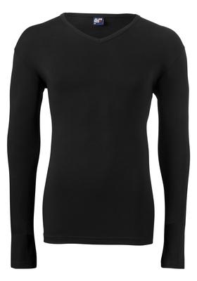 Alan Red stretch longsleeve T-shirt Oslo, V-hals, zwart