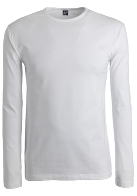 Alan Red stretch longsleeve T-shirt olbia, O-hals, wit