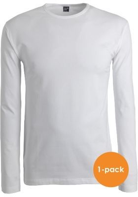 Alan Red stretch longsleeve T-shirt olbia, O-hals, wit